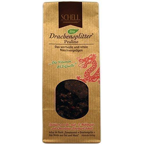 Drachensplitter Praline BIO (100g) [Schell Schokoladenmanufaktur, mit Gojibeeren, Vitamin B12] Tausendkraut