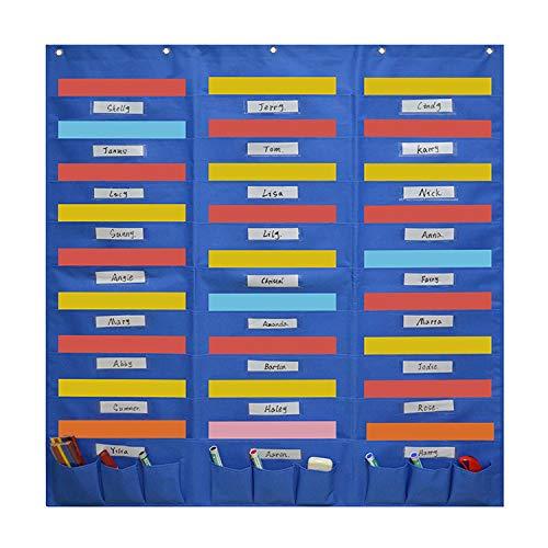 Hanging File Organizer Pocket Chart, Wall File Organizer Folder with 27 File Pockets+9 Small Pockets,Heavy Duty Storage Pocket Chart