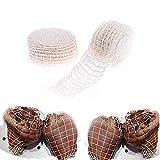 RUIYELE 2 paquetes de 10 m de algodón de malla elástica para carne ahumada, jamón, carne y carnicero, rollo de red para envolver carne, carne y embutidos, tamaño 16+18