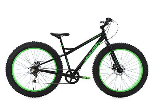 KS Cycling Mountainbike MTB Fatbike 26\'\' schwarz-grün RH43cm