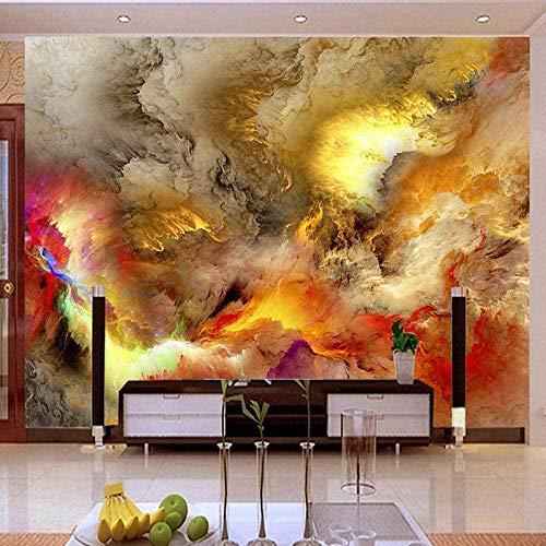 VGFGI Mural 3D Pvc impermeable autoadhesivo papel tapiz de vinilo Color abstracto nube galería restaurante café KTV creativo cartel adhesivo impermeable