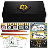 The Lettering Tribe Calligraphy Set For Beginners   Oblique Pen Holder + Wooden Calligraphy Pen + 10 Nibs + 5...