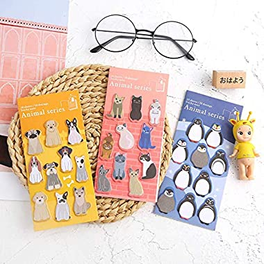 DuoYo Cute Zoo Theme Dog Sticky Note Leave Message Note 10 Sheets Pad Student Stationery School Supplies