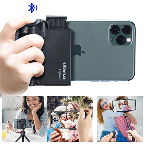 ULANZI Smartphone Tripod Mount with Remote Controller, Selfie Stick Tripod Monopod Head Adapter Phone Holder Handle Grip Compatible for iPhone 11 Pro Max/XS Max/8 Plus/Samsung Galaxy/Google Pixel