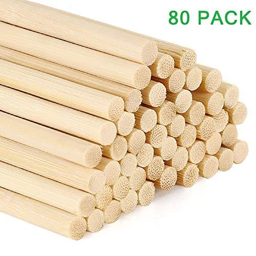 Materiales de alta calidad: los palitos de ambientador son estos palos de madera hechos de ratán poroso y ligero, su efecto volátil será mucho mejor que la madera normal, incluidas 80 barras con una longitud de 30 cm, aproximadamente 5 mm de diámetro...