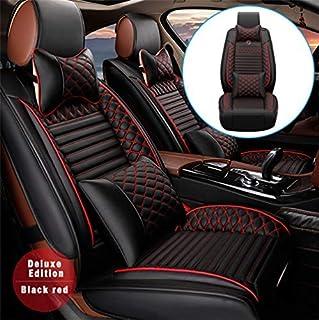 Handao-US Lusso Coprisedili per L And R Over Freelander 2-Seat Set Completo di Fodere per Seggiolino Auto Protezioni per la Parte Anteriore e Posteriore del Sedile in Pelle Sintetica Premium Beige