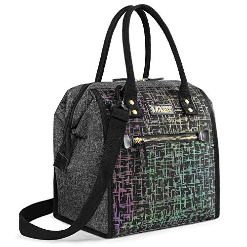 UTOTEBAG Lunch Bags for Women Flashing Lunch Bag Wide-Opening Lunch Box...