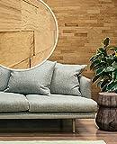 wodewa Paneles de Madera para Pared Roble Natural I 1m² Revestimiento de Paredes 3D Panel Decorativo Madera Interior Sala de Estar Cocina Dormitorio Mural I Estructurado Engrasado