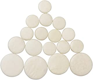 17pcs Clarinet Pads Bb Key Ivory