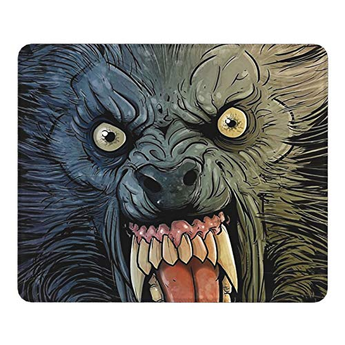 Werewolf in London Bhutan Gaming Mouse Pad—Mouse Pad with Stitched Edges, Textured Mouse Pad, Non-Slip Rubber Base Mouse Pad for Laptops, Offices, Computers and Pcs (Black)