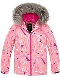 Wantdo Girl's Waterproof Winter Warm Parka Insulation Snowboard Jacket Pink 10/12