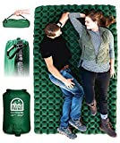 In Your Prime Double Sleeping pad for Camping - Wide Ultralight Backpacking air Mattress 2 Person...