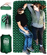 In Your Prime (Tall) Double Sleeping pad for Camping- Ultralight Backpacking air Mattress- 2 Person Inflatable mat- Portable car, Tent or Truck Bed- 4 in 1 Pump Bag, Paracord Handle & Carabiner!