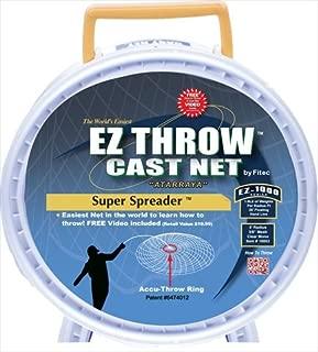 FITEC 10853 5 ft. EZ1000 Ez Throw Super Spreader Cast Net 0.38 in.44;Clear44; 0.75 lbs.