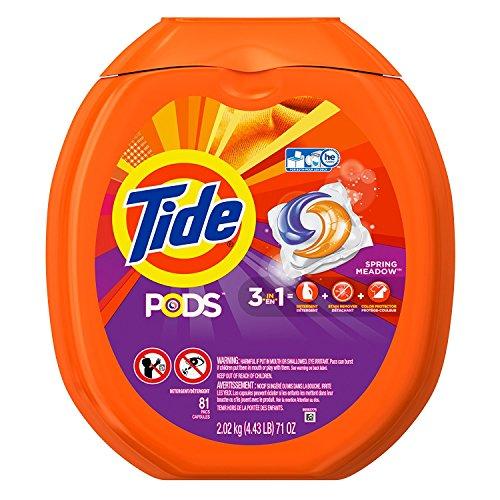 Tide Pods ER Turbo Waschmittel Packungen, Spring Meadow, 81Zählen