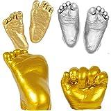 Andifany 3D Hand & Fuss Druck Form Fuer Baby Pulver Gips Casting Kit Handabdruck Fussabdruck Andenken Geschenk Denkmal