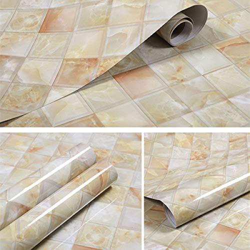 Tapeten, Vinyltapeten, wasserdichte und ölbeständige hochtemperatur-selbstklebende, verdickte Marmoraufkleber, die in Küche, Esstisch und Herd verwendet werden-Diamantjade 40 cm * 5 m_Groß