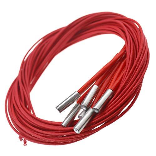 BIYM - Lote de 6 módulos calefactores para Cartucho de Tubo de un Cabezal de 24 V, 40 W, 6 x 20 mm para Impresora 3D