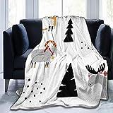 manta para ni/ños y ni/ñas dise/ño de /árbol Fox Muselina manta para silla de paseo redonda manta para beb/é