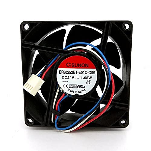 SUNON EF80252B1-E01C-Q99 DC24V 1.68W 80x80x25MM 4Line PWM Inverter Cooling Fan