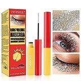 Fiber Eyelash Mascara, Rímel Impermeable, Rímel brillante como un diamante, Impermeable y duradero, Maquillaje de Ojos Largo y Encantador