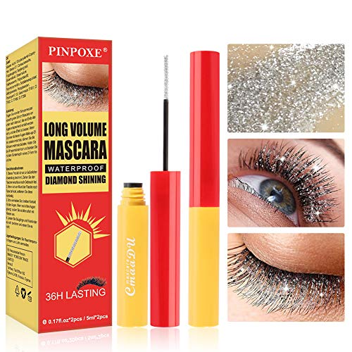 4D Silk Fiber Eyelash Mascara, Twinkle Wimperntusche, Extra Long Thick & Voluminous Lash Mascara,...