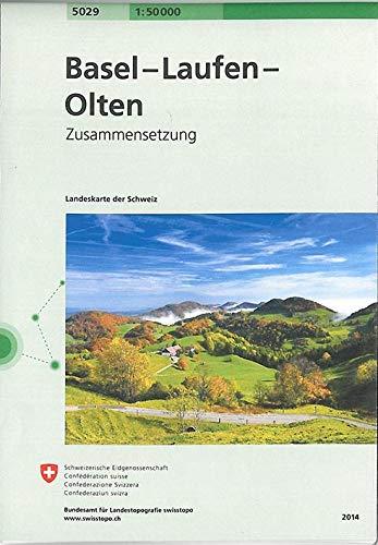 5029 Basel - Laufen - Olten: Zusammensetzung (Landeskarte 1:50 000 Zusammensetzungen)