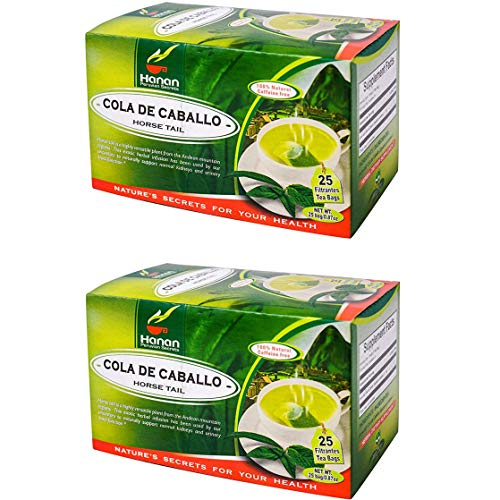 Horsetail Herbal Tea -100% Natural (50 Tea Bags )   Optimizes Urinary Tract Health   Supports Hair Growth and Bone Development   Natural Source of Vitamin C   Caffeine-Free  