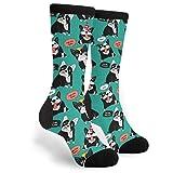 French Bulldog Socks Funny Crazy Animal Dog Crew Socks for Men Women Puppy Dog Lover