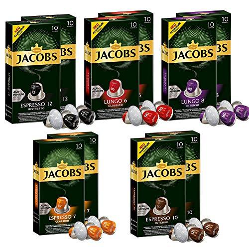 Jacobs aluminium Nespresso* kompatible Kaffee kapseln Sorten Set, 10er Pack (100 Getränke)
