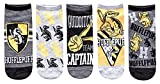 Harry Potter Hufflepuff Quidditch Juniors/Womens 5 Pack Ankle Socks Size 4-10