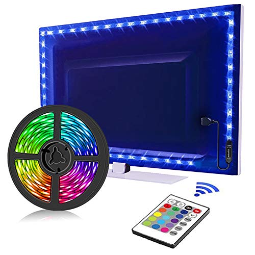 TV LED Backlights, LED Strip Lights 6.56ft for TV 46-60 inch, LED Rope Lights for Bedroom with...