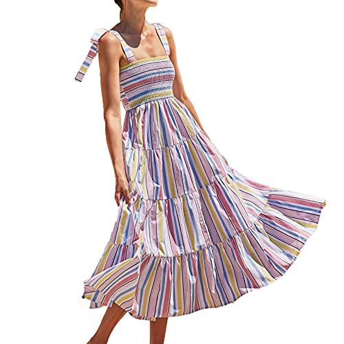 Nouvelle éCharpe De Style Vacances pour Femmes D'éTé Robe Longue à Bretelles