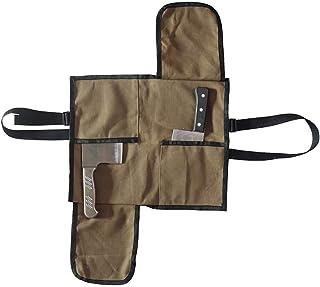 HANSHI HGJ249 - Bolsa de Lona Encerada para Carne, Protector Impermeable para Cuchillos Anchos, Protectores duraderos para Cuchillos de Chef de Carnicero, Cubiertas para Cuchillos de Alta Resistencia