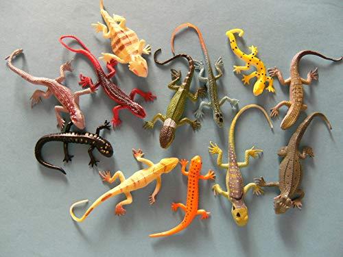 Cornelissen Eidechsen 12erSet, 8 - 15cm, Stretch Stretcheidechsen Echsen Chamäleon Eidechse Spielzeug