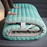 jhgsdh Colchón de Piso Plegable para Dormir, colchón Grueso de látex tailandés, colchón de futón Tradicional japonés, tapete de Tatami Plegable para Piso, Verde 150x200cm (59x79inch)
