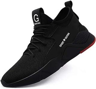 JIANYE Chaussure de Securité Homme Chaussures de Travail Femme Bottes De Sécurité Léger Respirantes Chaussures de Protecti...