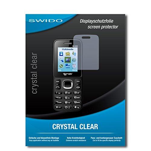 SWIDO Schutzfolie für Simvalley Mobile SX-305 Dual-SIM [2 Stück] Kristall-Klar, Hoher Festigkeitgrad, Schutz vor Öl, Staub & Kratzer/Glasfolie, Bildschirmschutz, Bildschirmschutzfolie, Panzerglas-Folie