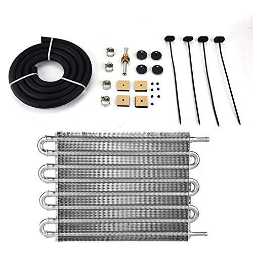Convertitore radiatore, kit radiatore olio trasmissione remota a 8 file per auto Convertitore radiatore automatico-manuale