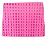 Strictly Briks Classic Big Briks Baseplate 100% Compatible with All Major Brands | Large Pegs for Toddlers | 13.75' x 16.25' Building Brick | Tight Fit Stackable Base Plate | Pink