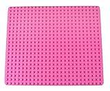 Strictly Briks Base apilable para Construir - Compatible con Todas Las Grandes Marcas - Tacos Grandes - 41,28 x 34,93 cm - Rosa