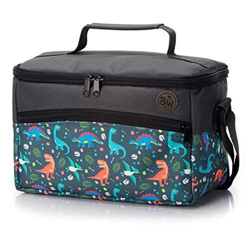 BAMBINIWELT Tasche für Toniebox, Musikbox-Tasche, für Hörwürfel z.B. Toniebox und Tigerbox Touch, verstellbare Innenfächer, Netzfach für Zubehör, Toniebox Tasche (Modell 16)