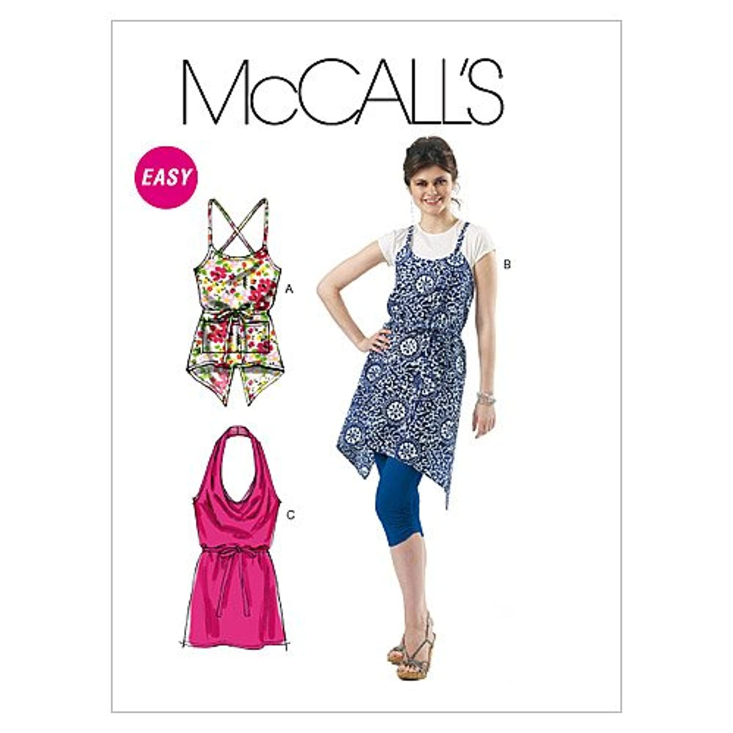 McCall's Patterns M6358 Misses' Tops, Size Y (XSM-SML-MED)