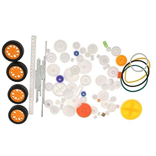 MagiDeal 78Pieces Satz Sortierte Zahnstangen Antriebsrädchen Kunststoff Zahnräder Modellbau