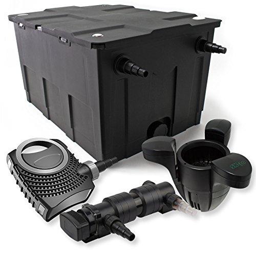 SunSun 1-Kammer Filter Set für 60000l mit 24W UVC 6er Teich Klärer NEO7000 50W Pumpe und Skimmer