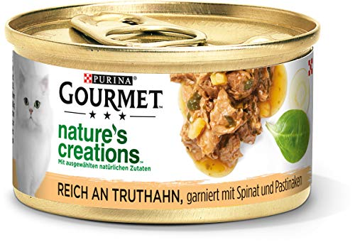 PURINA GOURMET Nature's Creation Katzennassfutter in Gelee naturbelassen, Truthahn, 12er Pack (12 x 85g)