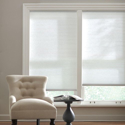 Home Decorators Collection Cut-to-Width Snow Drift 9/16 in. Cordless Light Filtering Cellular Shade - 60 in. W x 72 in. L