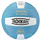 Tachikara Sensi-Tec Composite Volleyball, Powder Blue/White