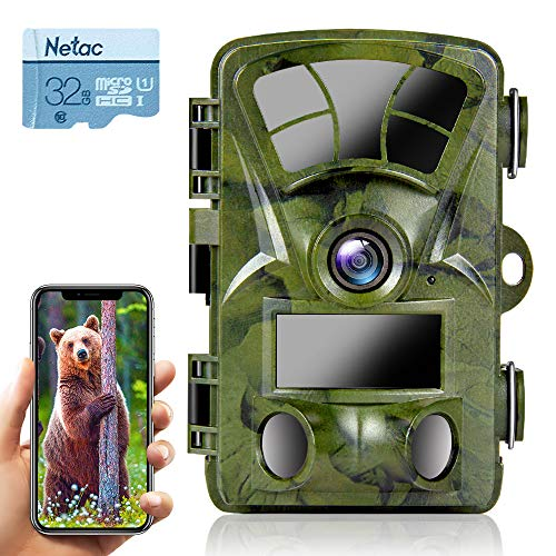 Ctronics Trail Camera WiFi 4K 20MP Wildlife Game Camera with Night Vision...