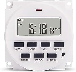 Winbang Interruptor Temporizador, 1.6 Pulgadas LCD Programador semanal programable Lámpara Temporizador Luces Control AC 220V
